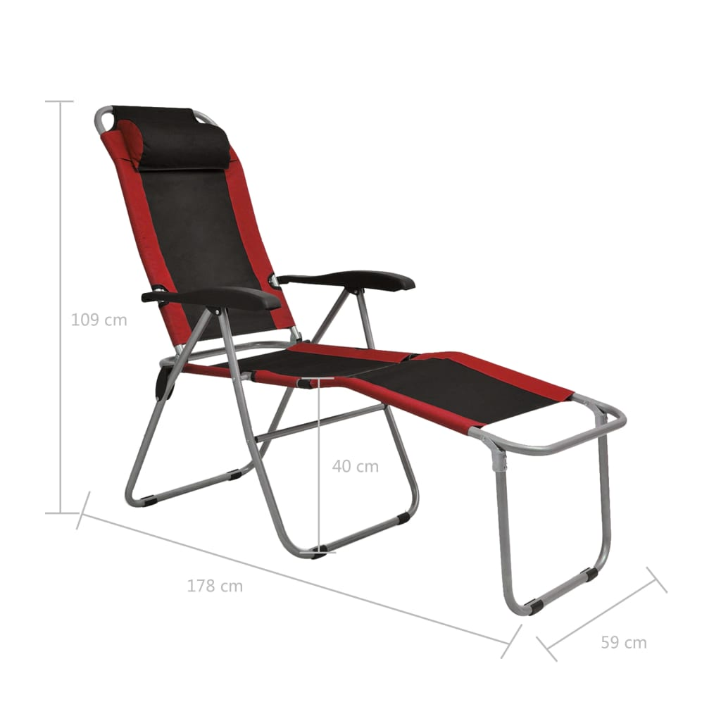 La boutique en ligne vidaxl chaise inclinable de camping 2 for Chaise inclinable