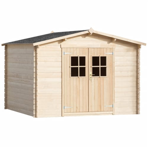 28 mm gartenhaus holzhaus ger tehaus blockhaus ger te schuppen haus 3x3 m holz ebay. Black Bedroom Furniture Sets. Home Design Ideas