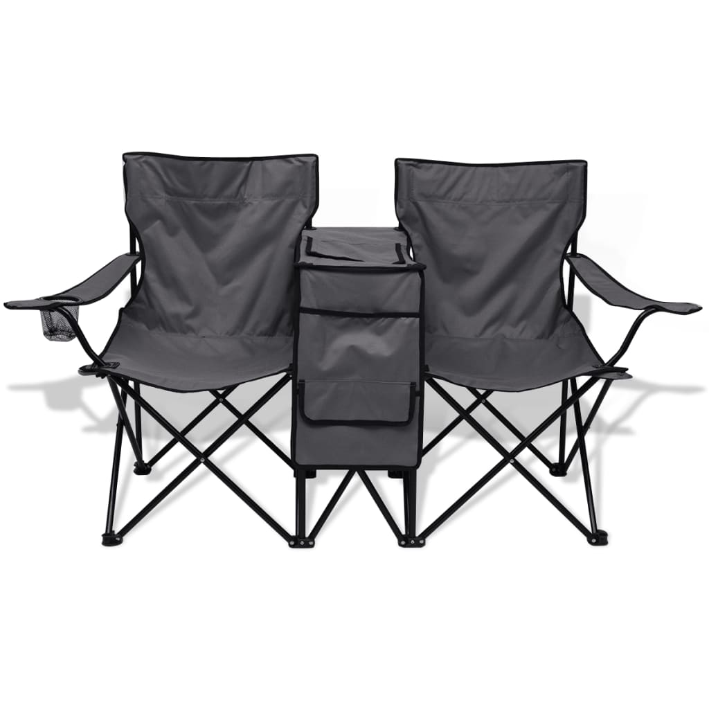 acheter vidaxl chaise double de camping 155 x 47 x 84 cm. Black Bedroom Furniture Sets. Home Design Ideas