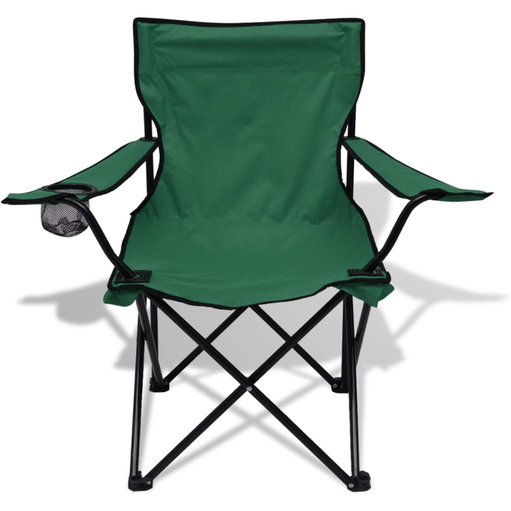 acheter vidaxl table et 2 chaises de camping vert pas cher. Black Bedroom Furniture Sets. Home Design Ideas