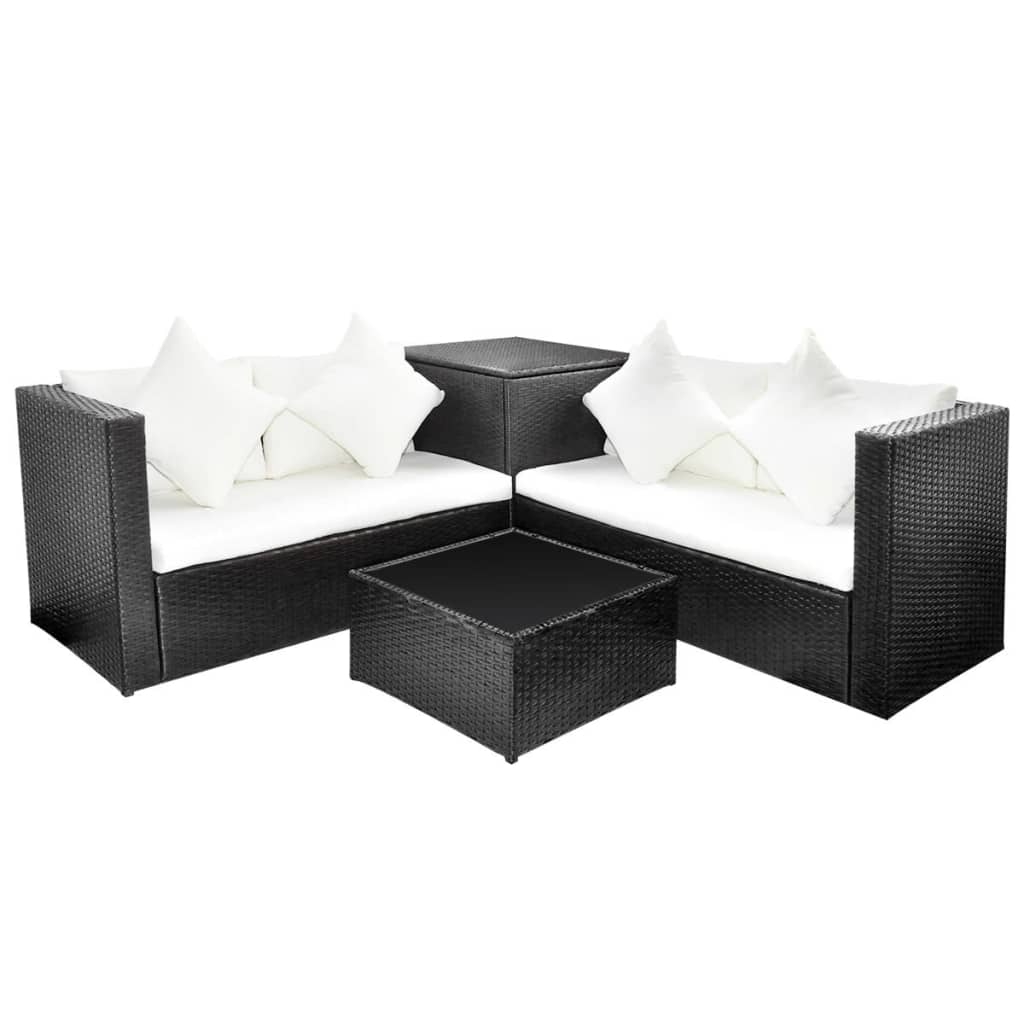 polyrattan affordable furniture poly rattan sofa set with. Black Bedroom Furniture Sets. Home Design Ideas