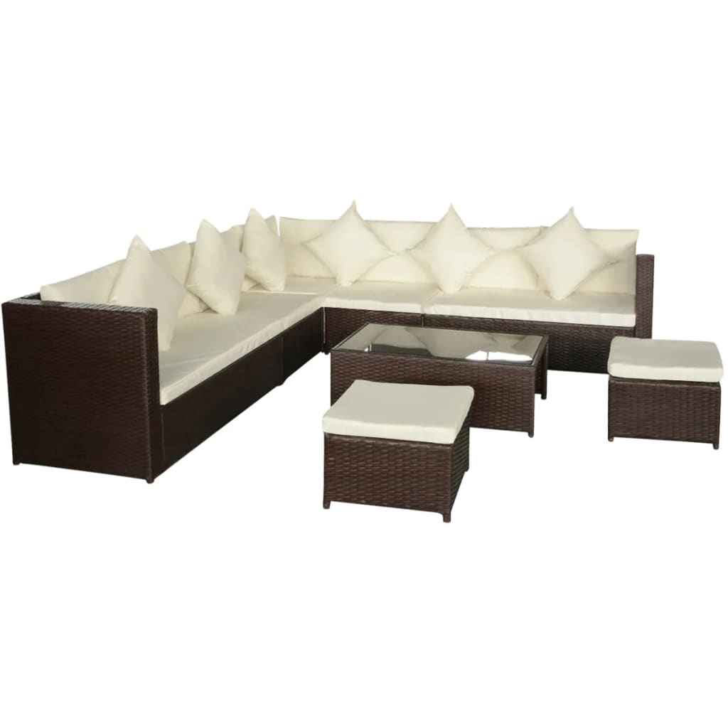 polyrattan set riviera poly rattan dining table and chair. Black Bedroom Furniture Sets. Home Design Ideas