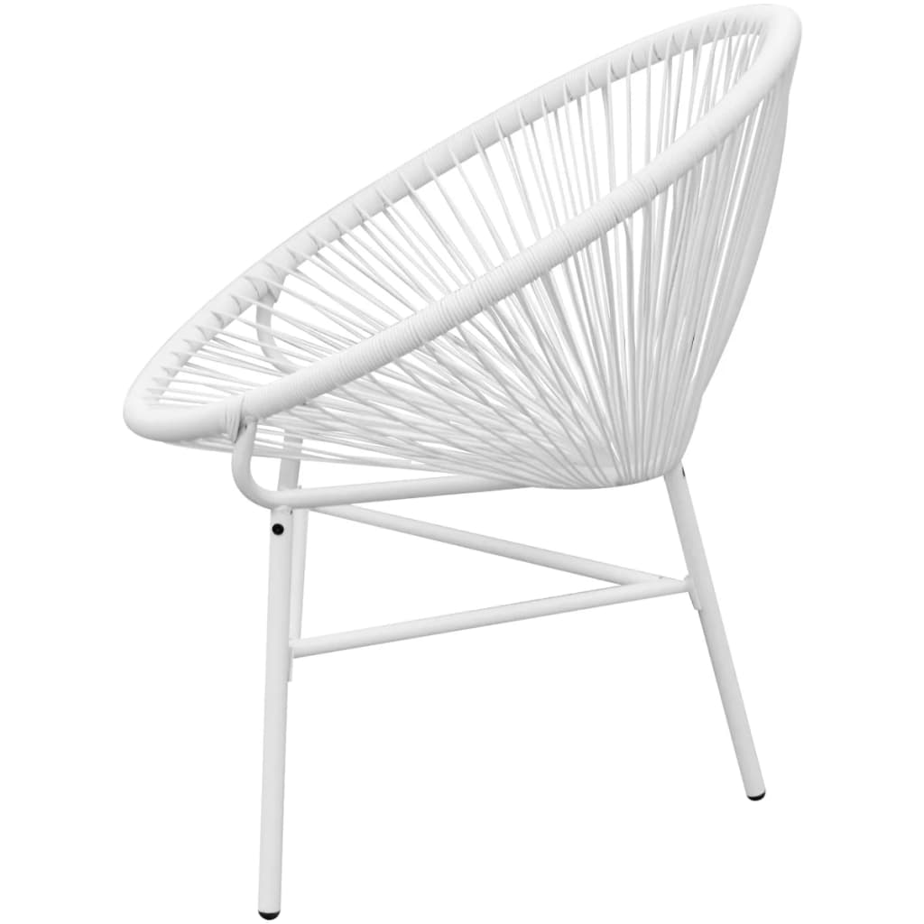 Acheter vidaxl chaise de jardin en rotin synth tique blanc for Chaise en rotin blanc