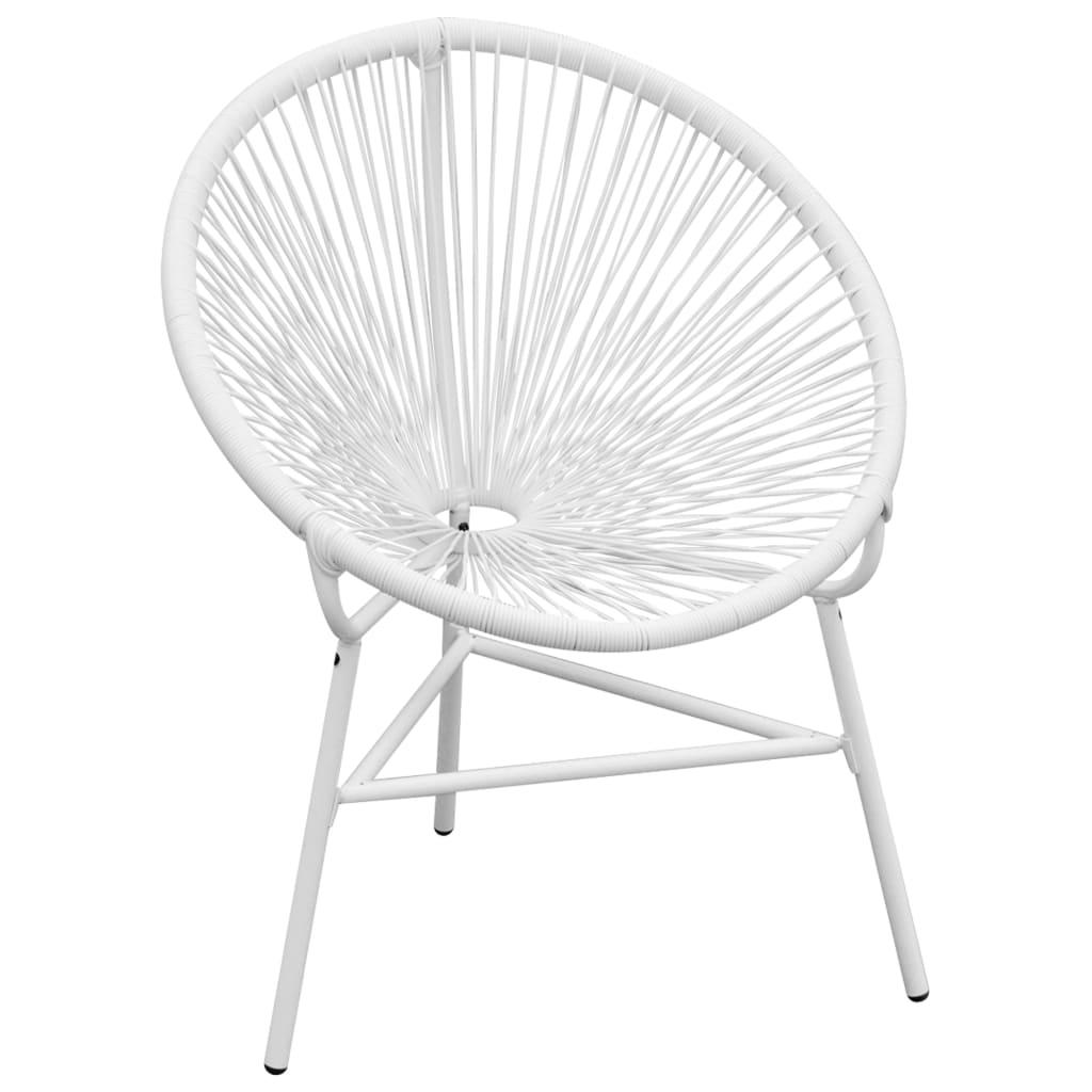 vidaXL fehér poly rattan kerti szék