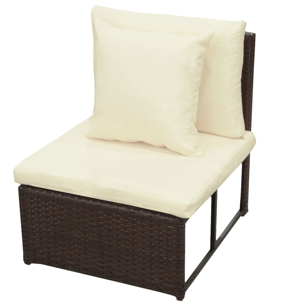 vidaxl loungebank voor in de tuin 29 delig poly rattan bruin online kopen. Black Bedroom Furniture Sets. Home Design Ideas