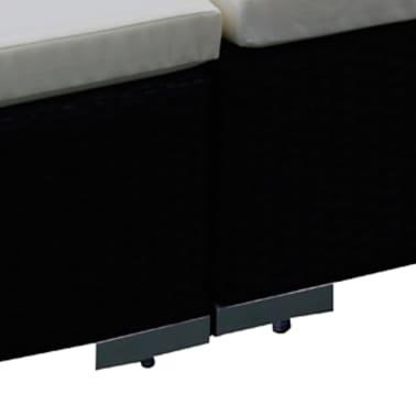 vidaXL 15 Piece Garden Lounge Set Black Poly Rattan[3/6]