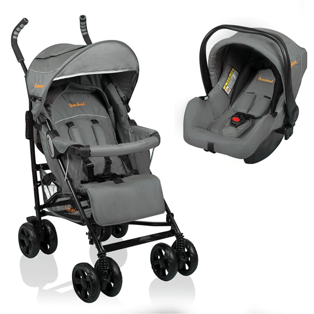 Afbeelding van Baninni Buggy Messina 2in1 Night Edition grijs BNST027-GY