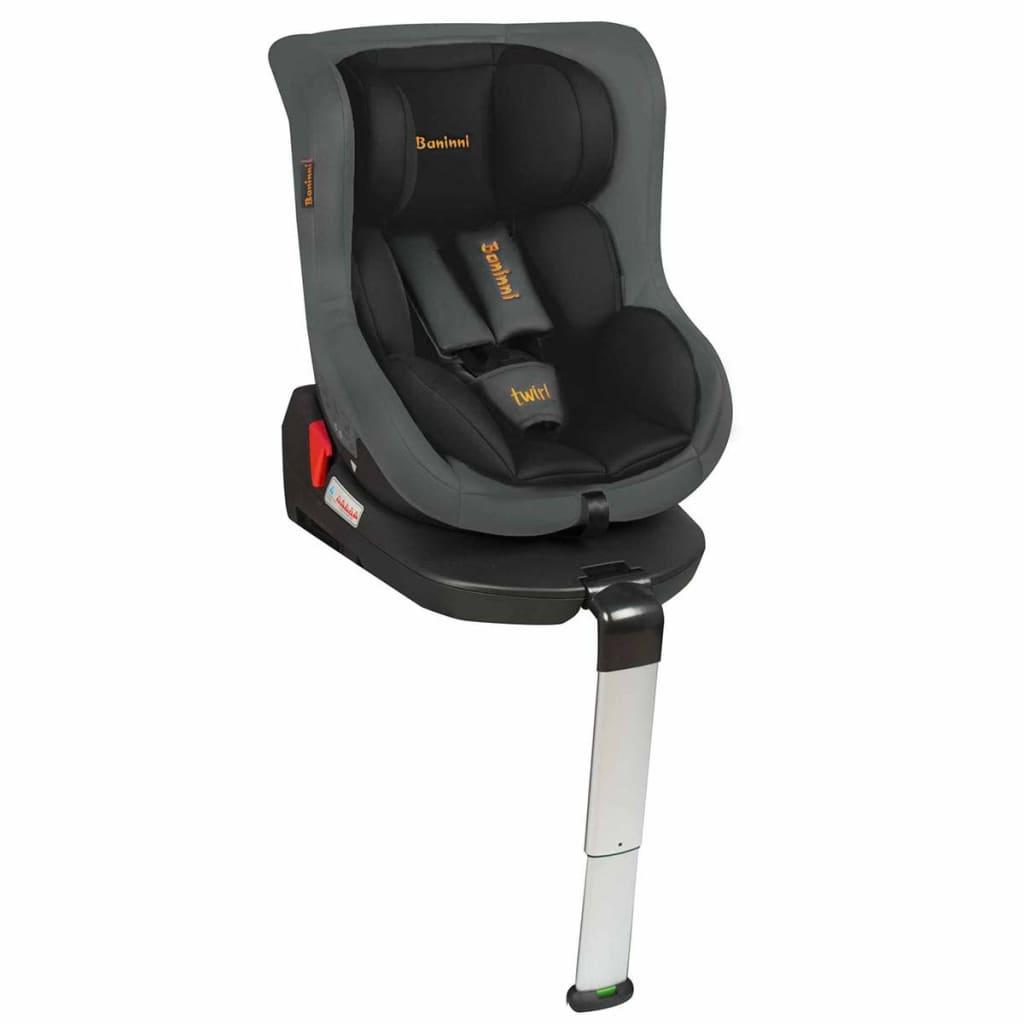 Afbeelding van Baninni Autostoeltje Twirl 360 Isofix 0+1 zwart en grijs BNCS021-BKGY