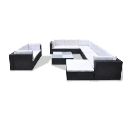 10PC Outdoor Rattan Wicker Sofa Couch Seat Sectional Patio Furniture Set Black 7