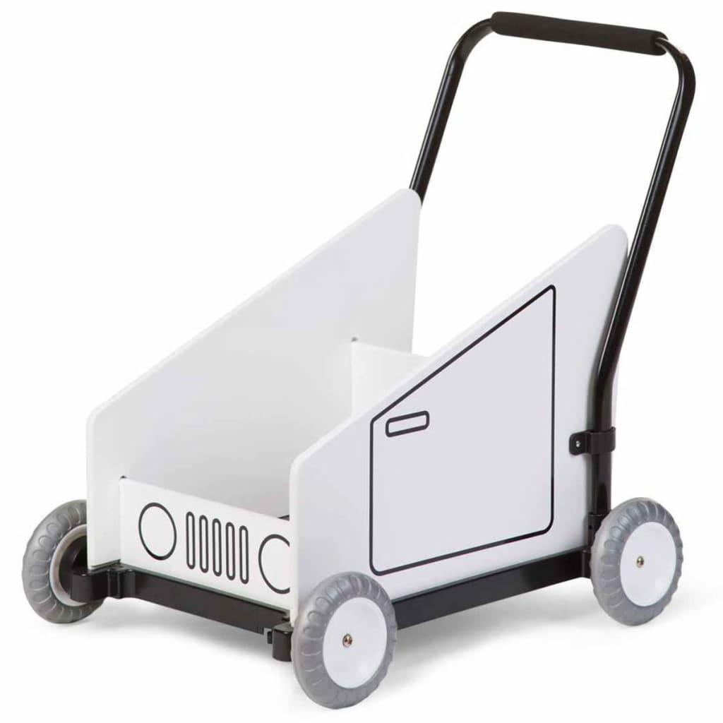 Afbeelding van CHILDWOOD Loopwagen met muziekdoos wit CWBWM