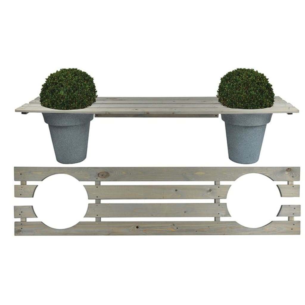 Afbeelding van Esschert Design Bank met plantenbakken 180 cm NG71
