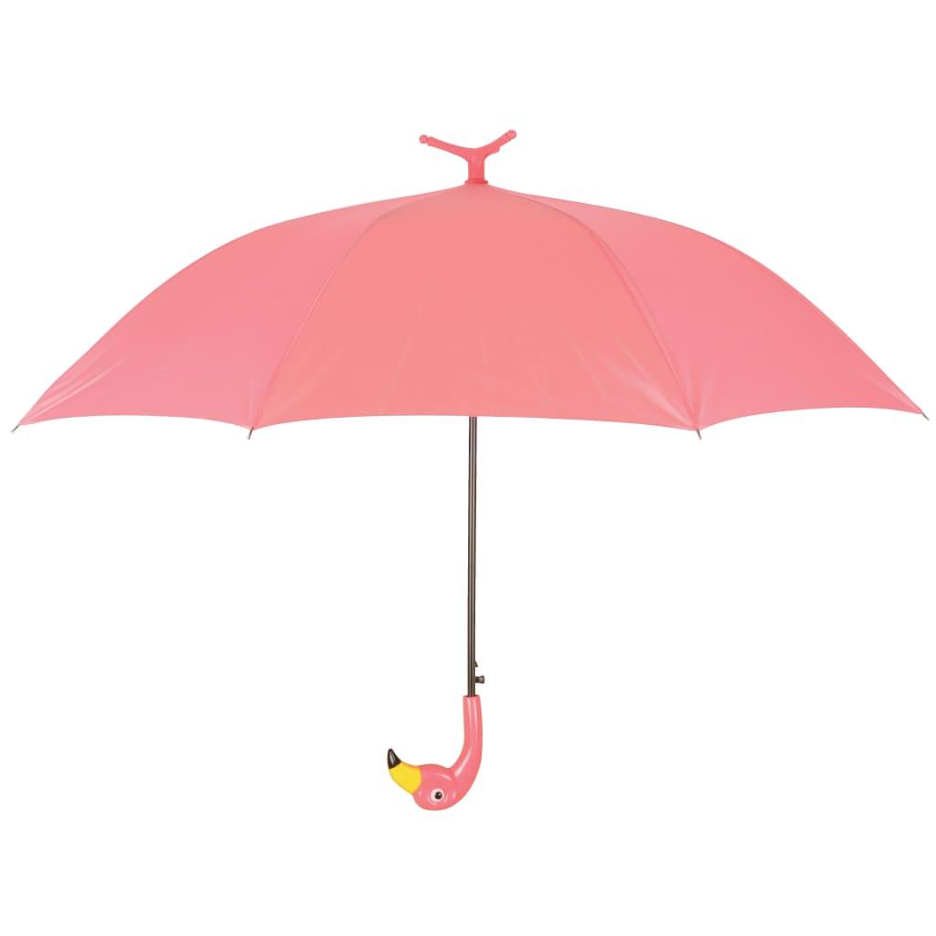 Afbeelding van Esschert Design Paraplu Flamingo 98 cm roze TP194