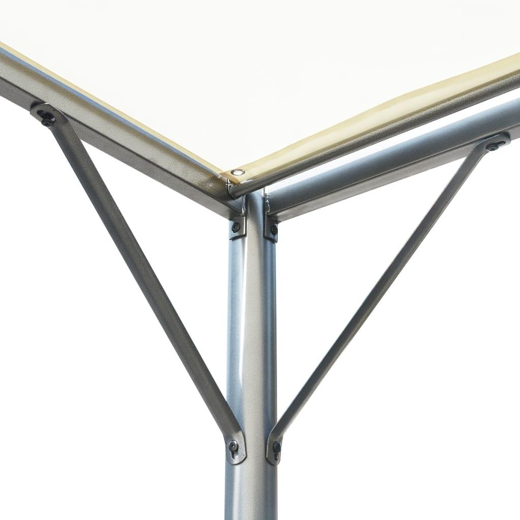 der vidaxl pergola mit verstellbarem dach cremewei stahl. Black Bedroom Furniture Sets. Home Design Ideas