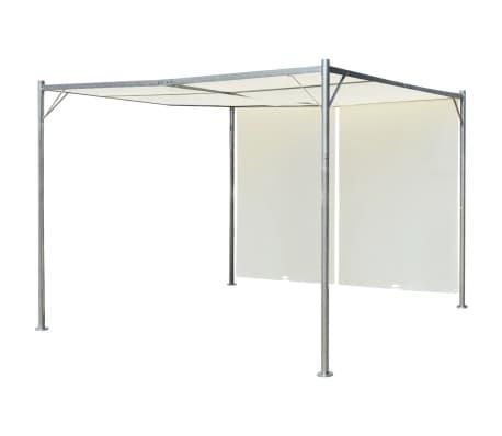 der vidaxl pergola mit verstellbarem dach cremewei stahl 3x3 m online shop. Black Bedroom Furniture Sets. Home Design Ideas