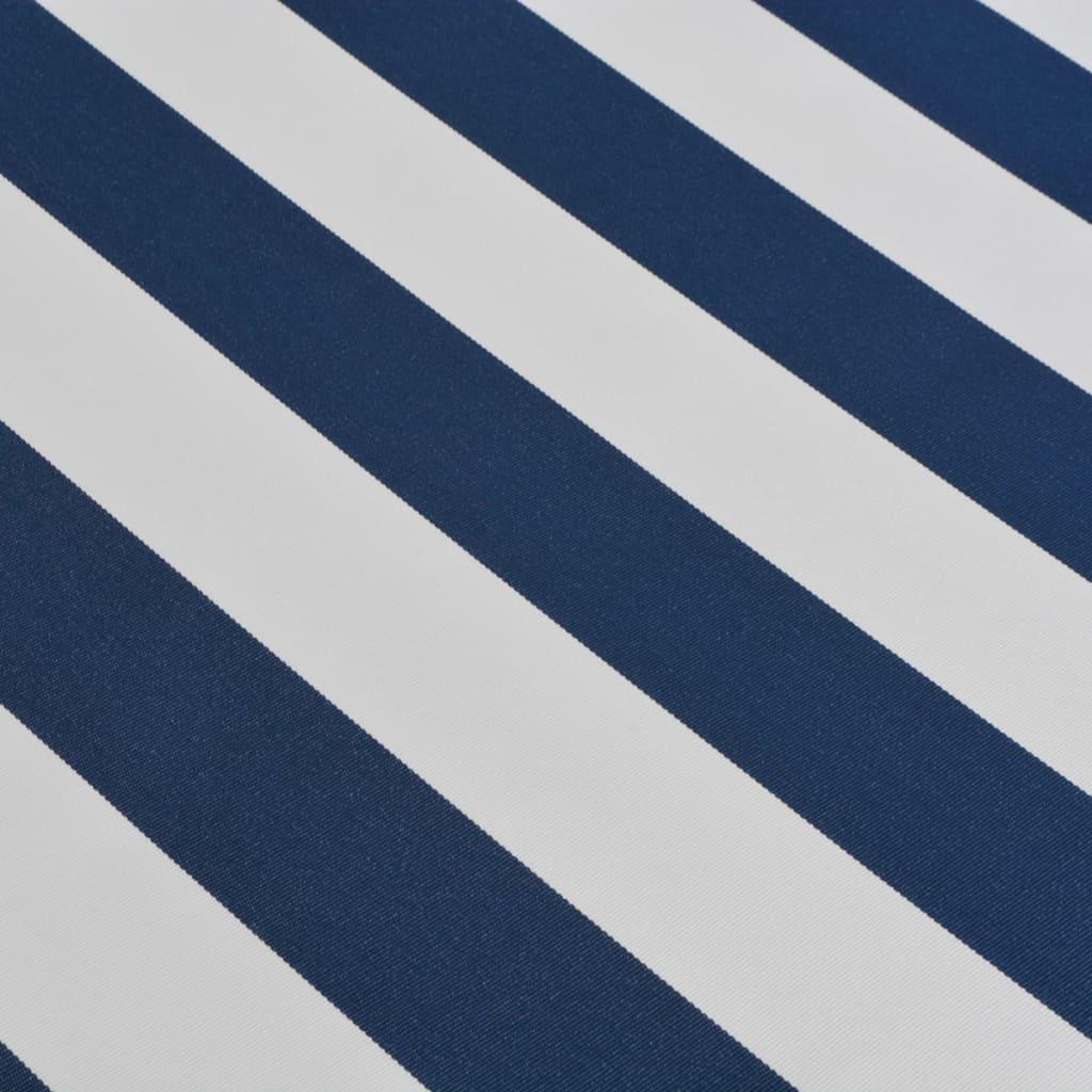 vidaxl gelenkarmmarkise handbetrieben 6x3 m blau und wei. Black Bedroom Furniture Sets. Home Design Ideas