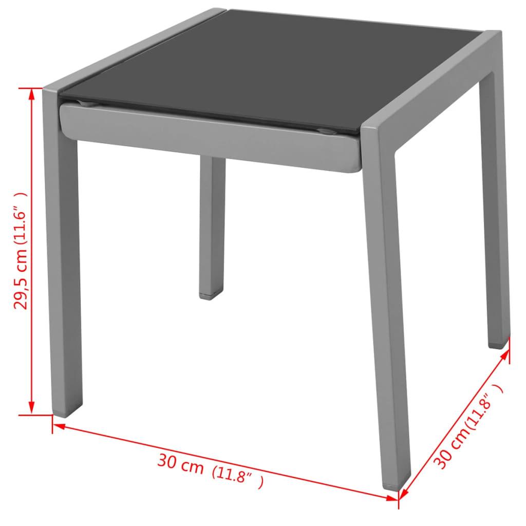 vidaXL-Ensemble-de-Chaises-Longues-et-Table-Aluminium-Noir-Bain-de-Soleil