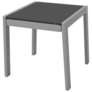 vidaXL 3-Dijelni Set Ležaljki Aluminijski Crni[3/6]