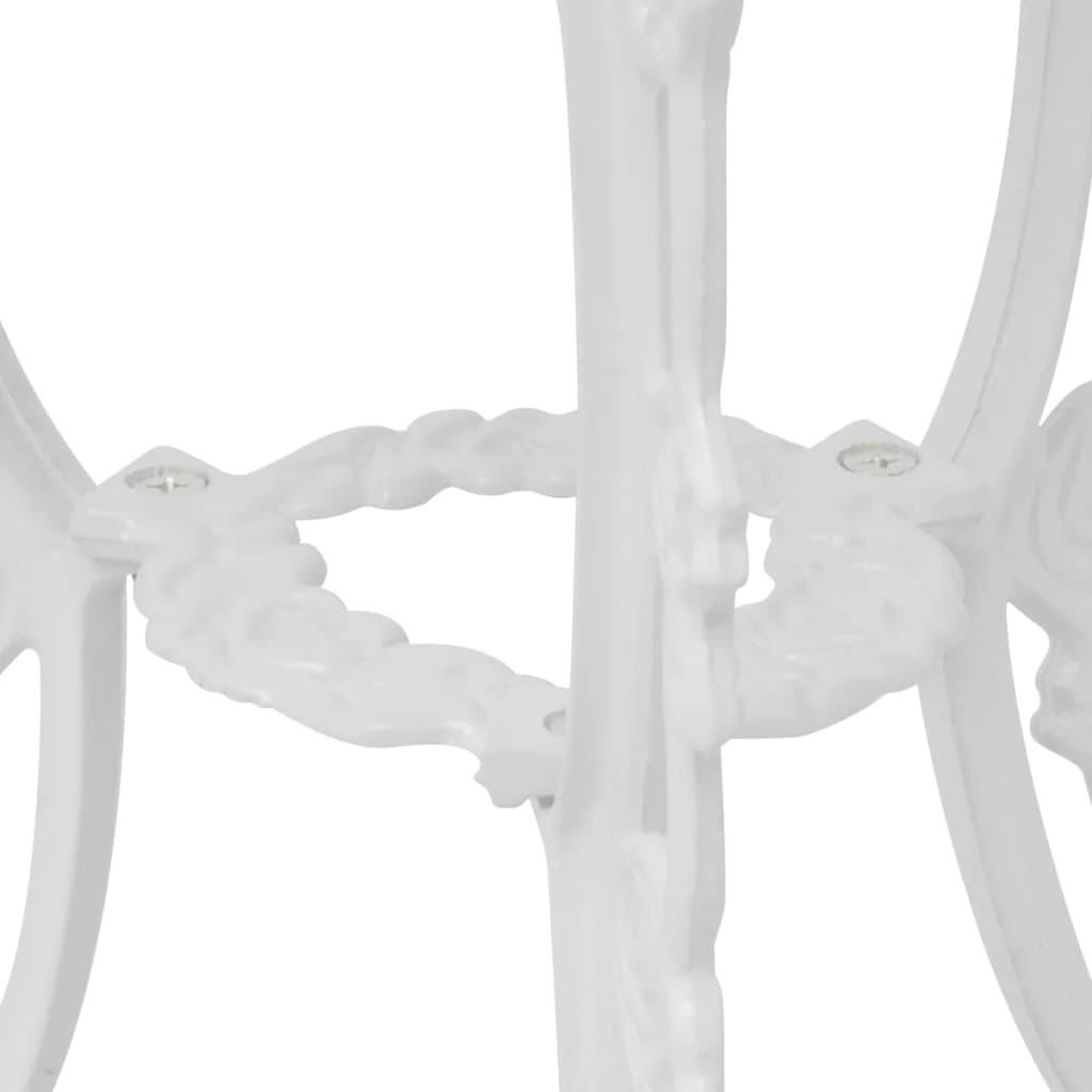 ... VidaXL 3 Tlg. Bistro Set Weiß Aluminiumguss[3/9] ...