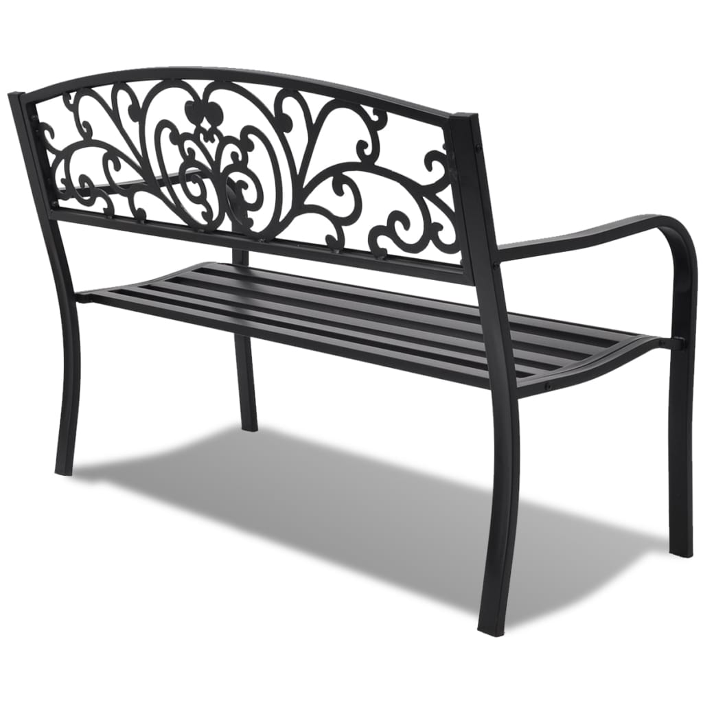 ... VidaXL Garden Bench Black Cast Iron[3/6] ...