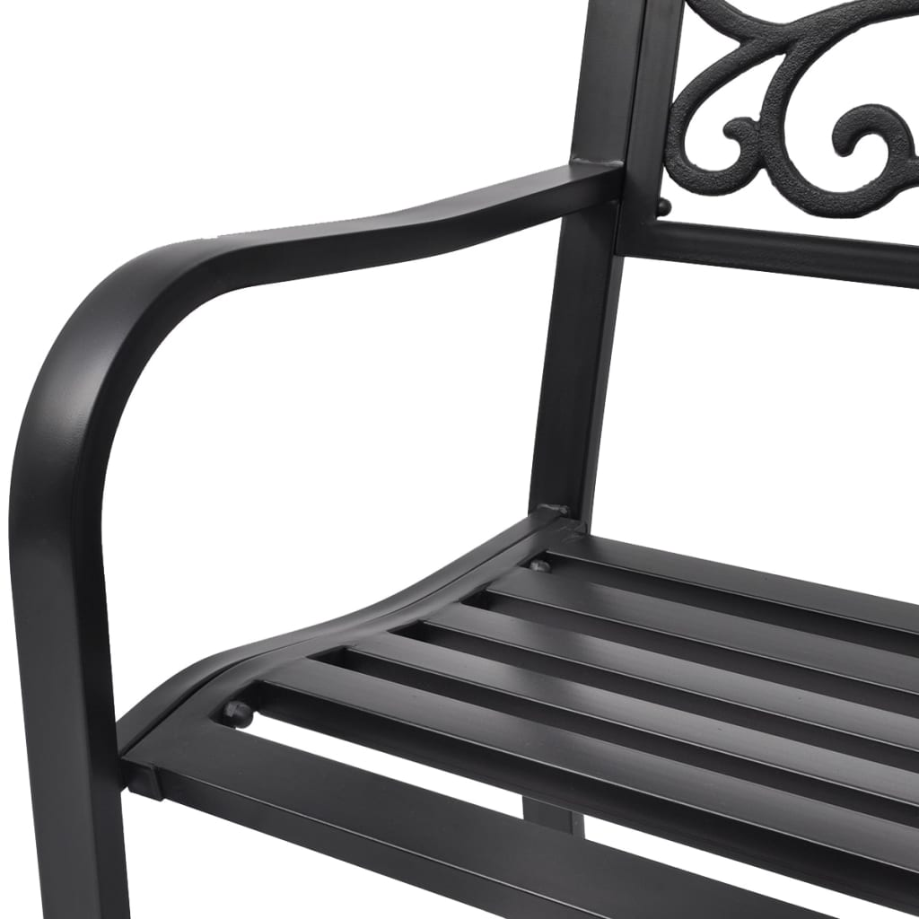 der vidaxl gartenbank schwarz gusseisen online shop. Black Bedroom Furniture Sets. Home Design Ideas