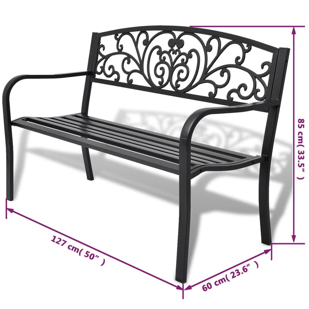 la boutique en ligne vidaxl banc de jardin fonte noir. Black Bedroom Furniture Sets. Home Design Ideas