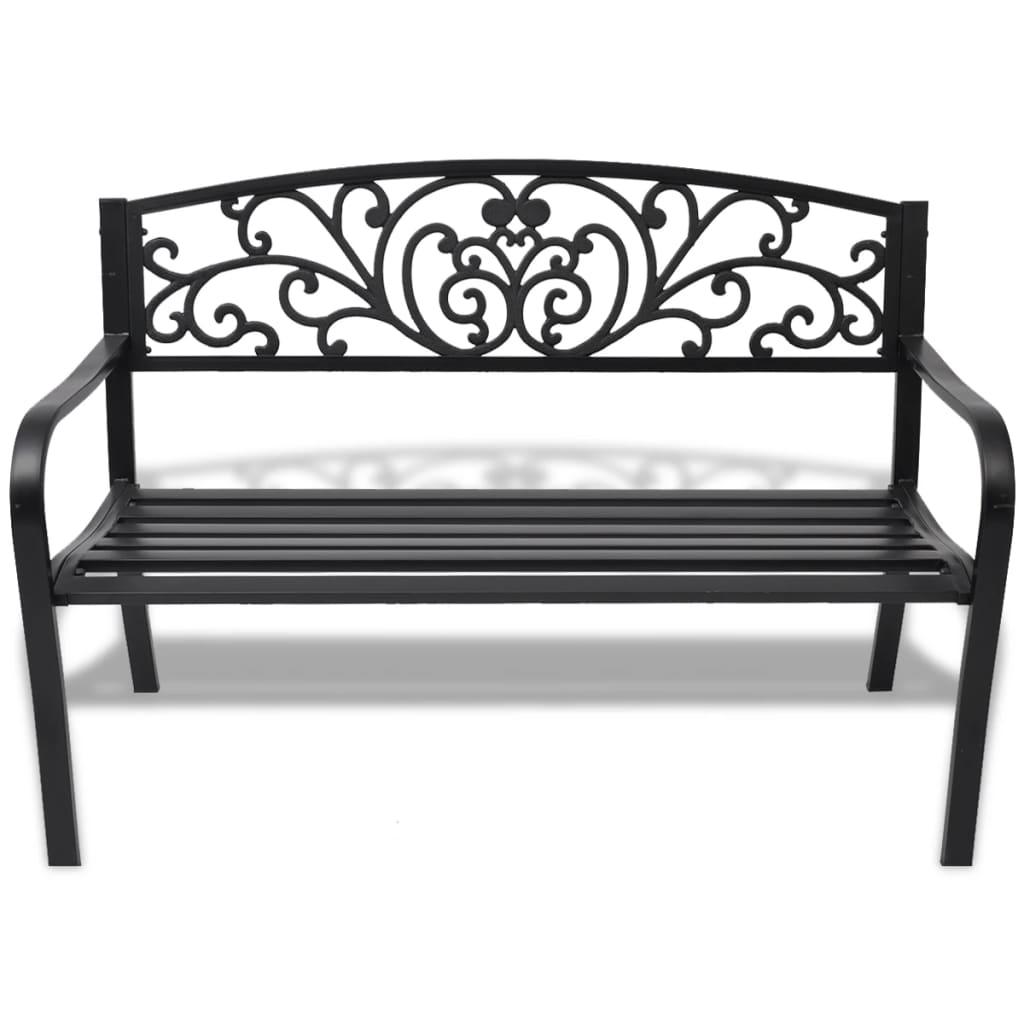 vidaxl gartenbank schwarz gusseisen g nstig kaufen. Black Bedroom Furniture Sets. Home Design Ideas