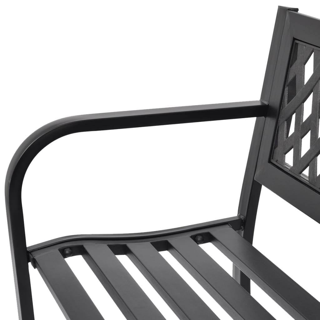 La boutique en ligne vidaXL Banc de jardin en acier noir | vidaXL.fr