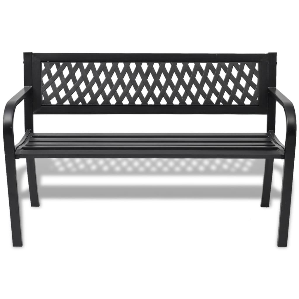 Vidaxl Garden Bench Black Steel