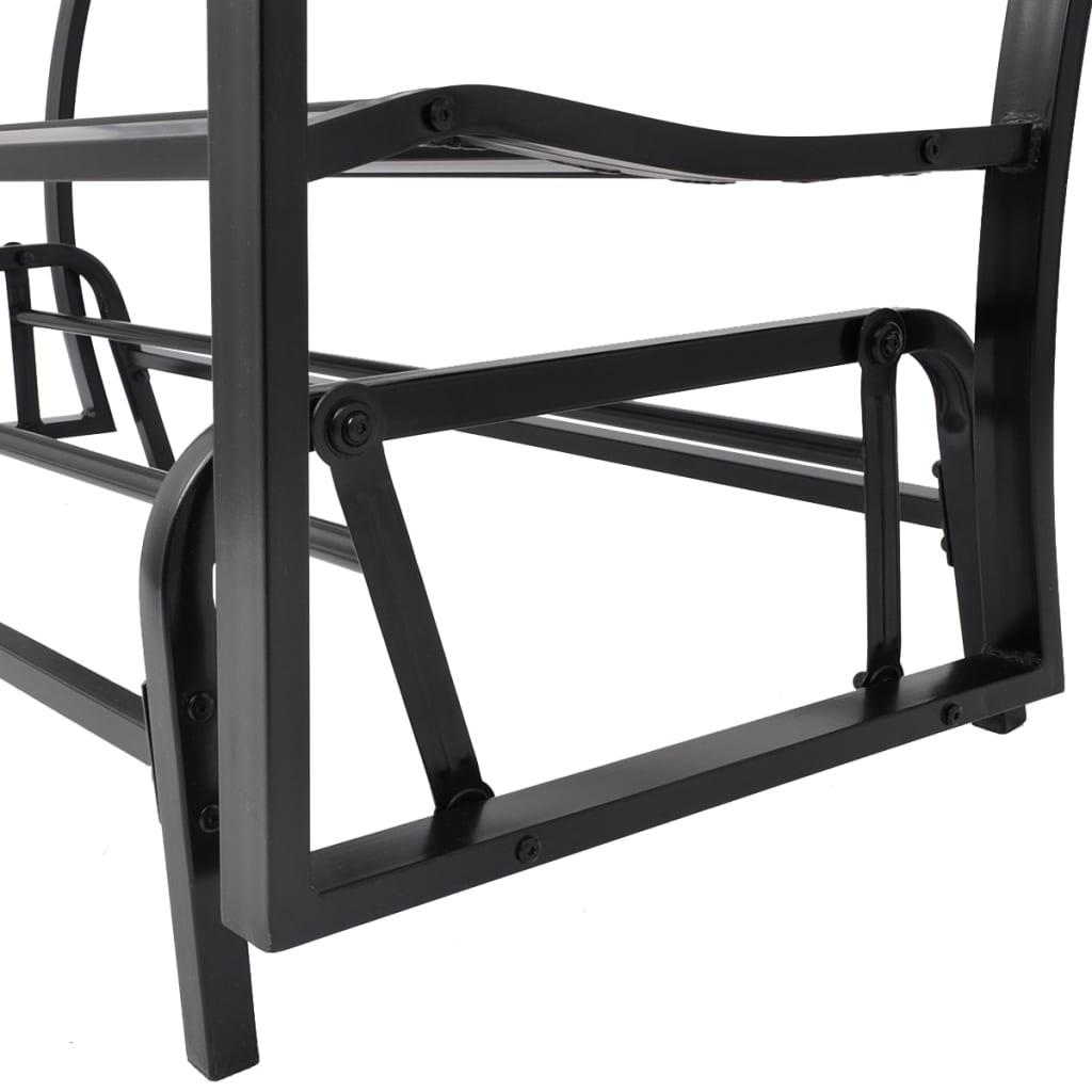 Vidaxl Swing Bench Black Steel