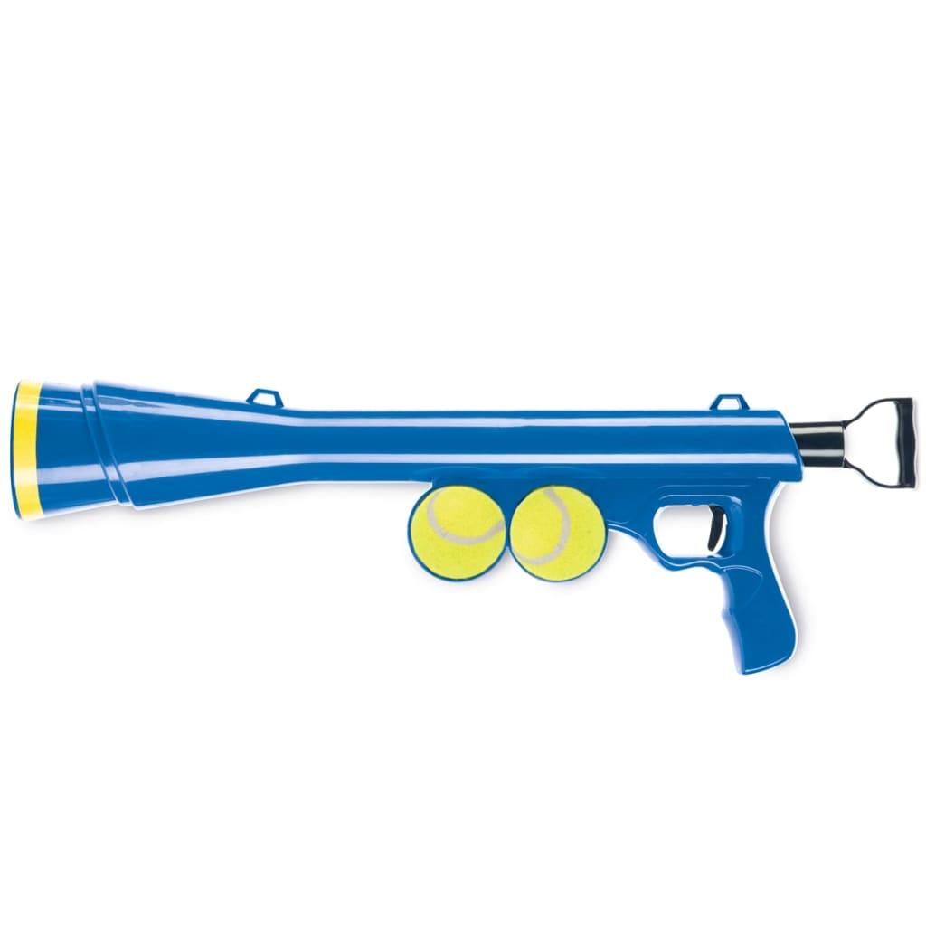 Afbeelding van Beeztees Ballenschieter met 2 tennisballen blauw 625070