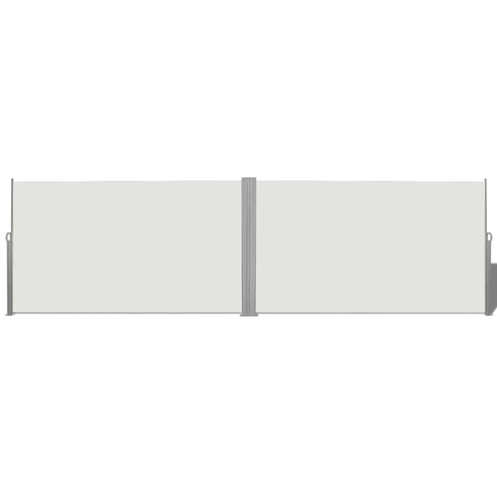 vidaXL összecsukható oldalsó napellenző 180x600 cm krém