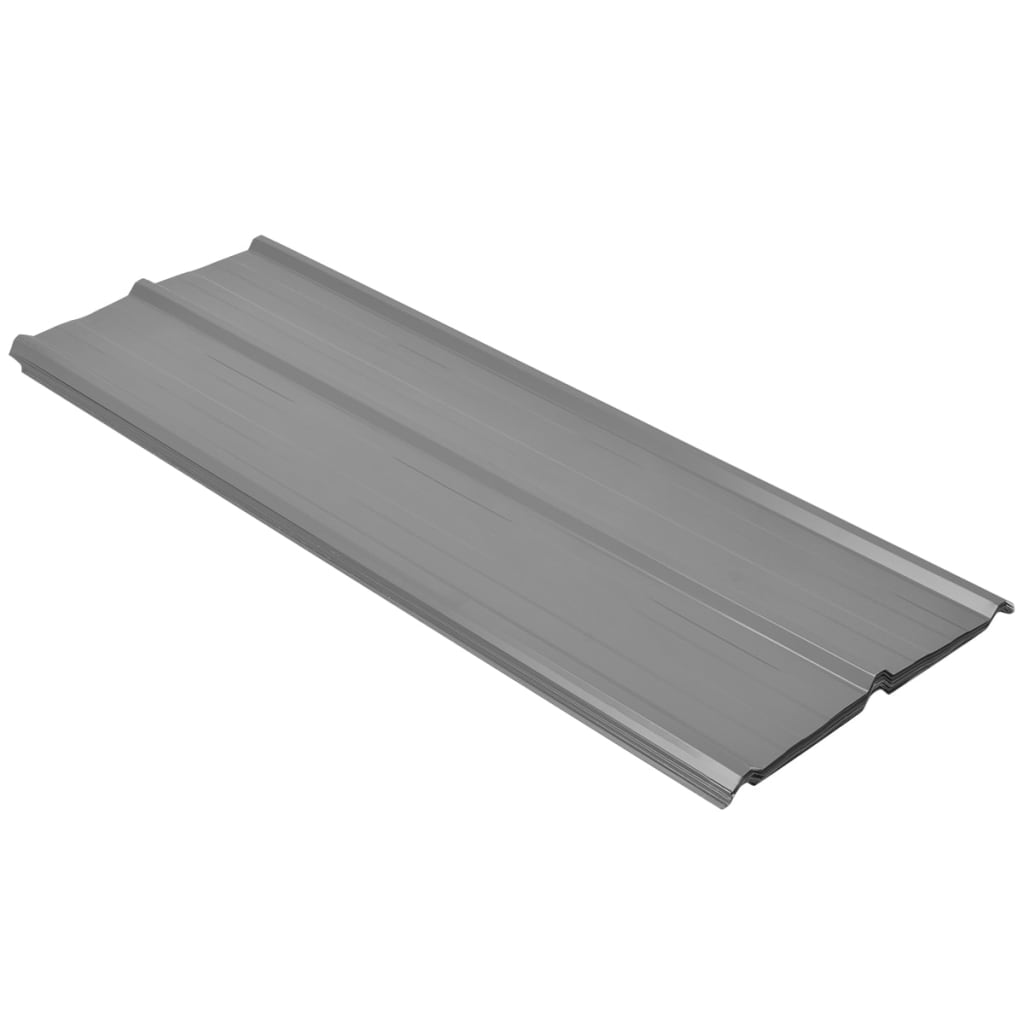 vidaXL-12pcs-Roof-Panel-Shed-Stable-Roofing-Sheets-0-25mm-Galvanised-Steel