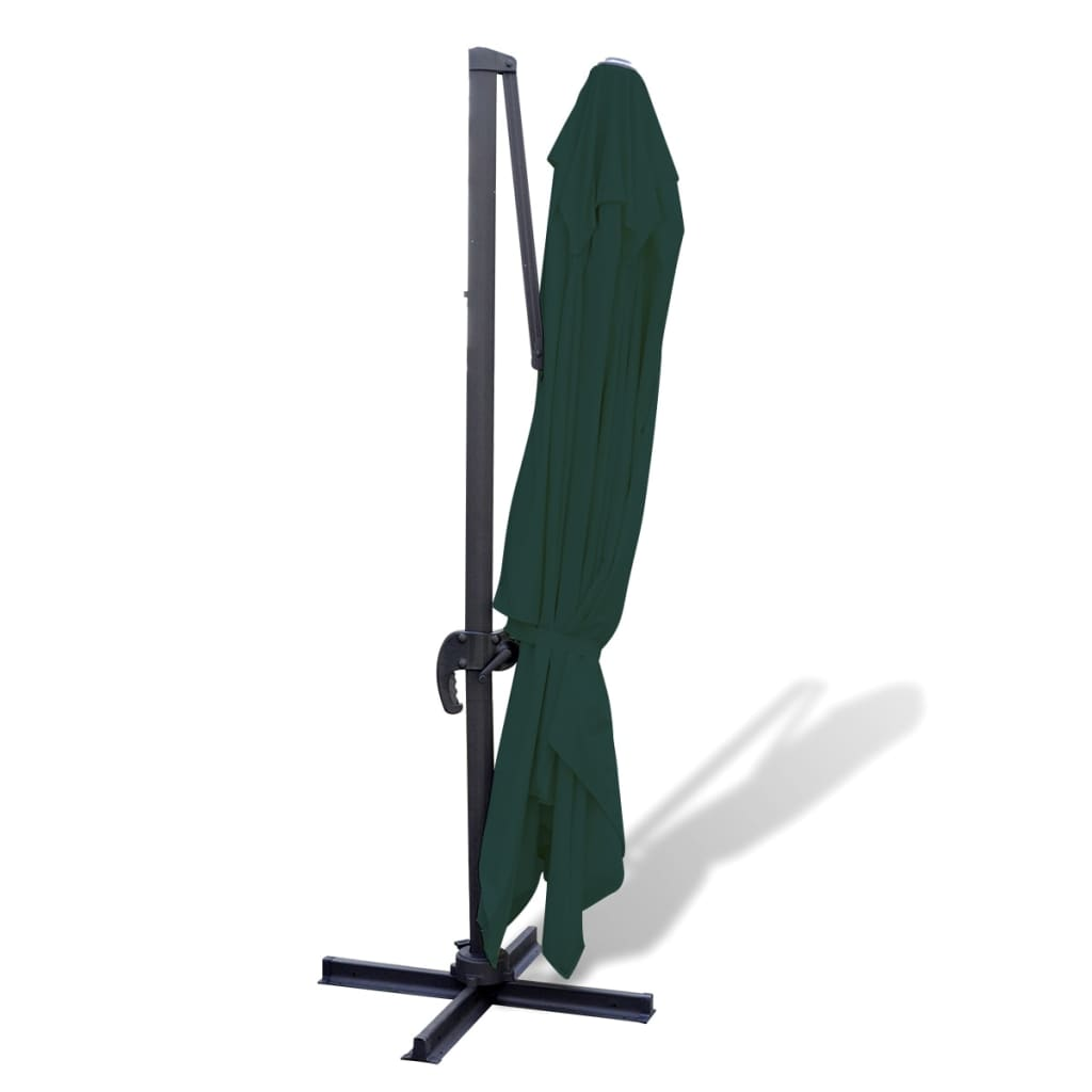 vidaxl parasol verde voladizo de aluminio 3x4 m. Black Bedroom Furniture Sets. Home Design Ideas