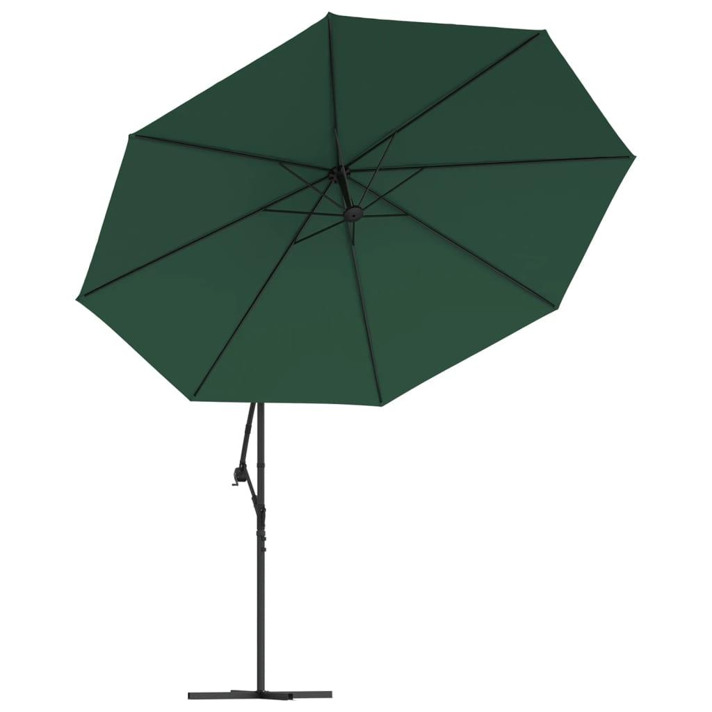 acheter vidaxl parasol en porte faux 3 5 m vert pas cher. Black Bedroom Furniture Sets. Home Design Ideas