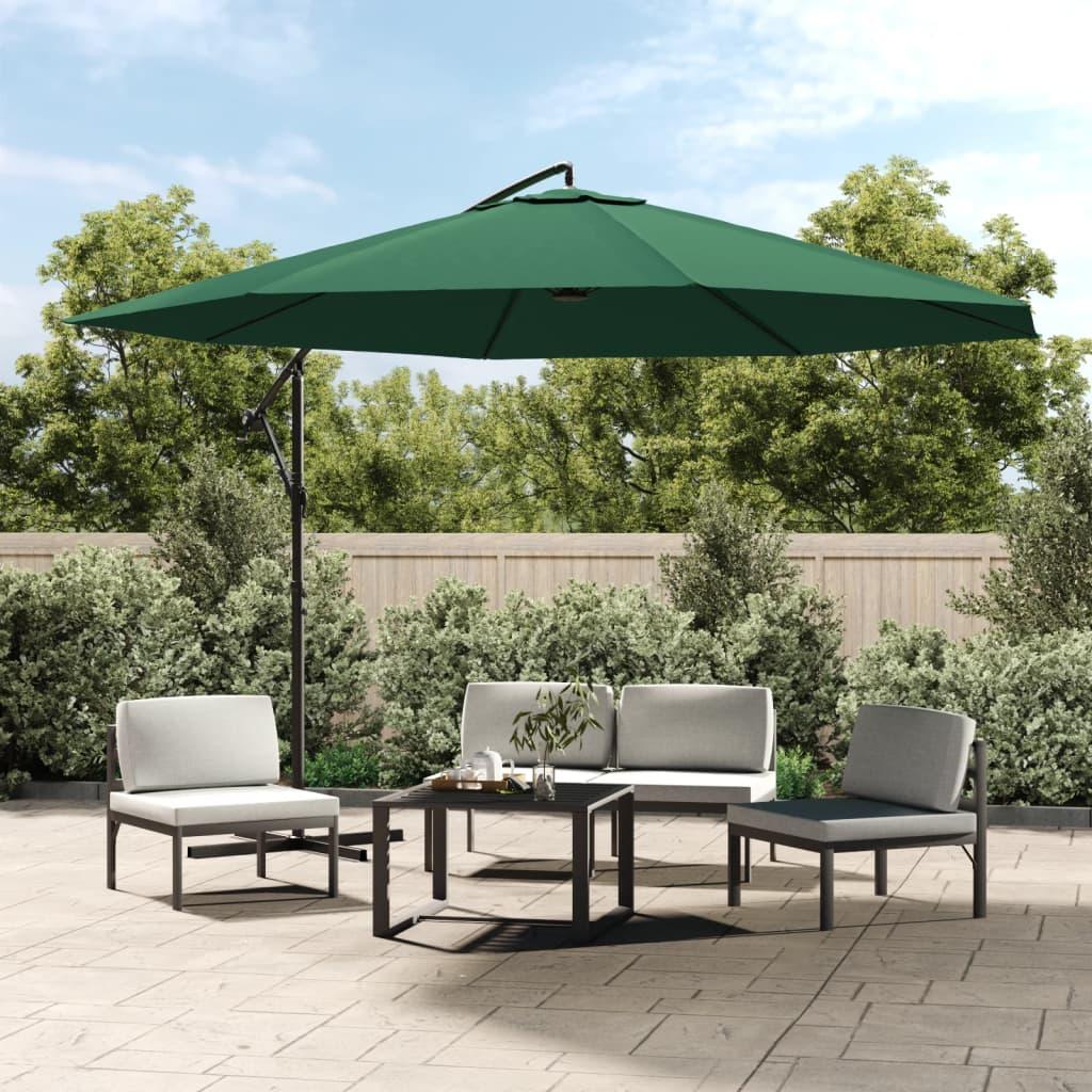 vidaXL 3,5 m zöld konzolos esernyő