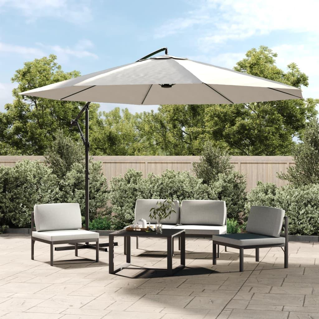 vidaXL konzolos napernyő 3,5 m homokfehér