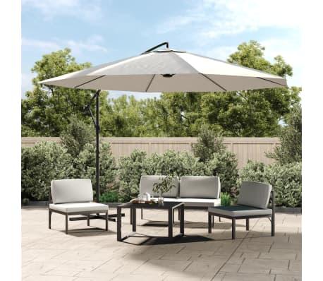 acheter vidaxl parasol en porte faux 3 5 m blanc sable pas cher. Black Bedroom Furniture Sets. Home Design Ideas