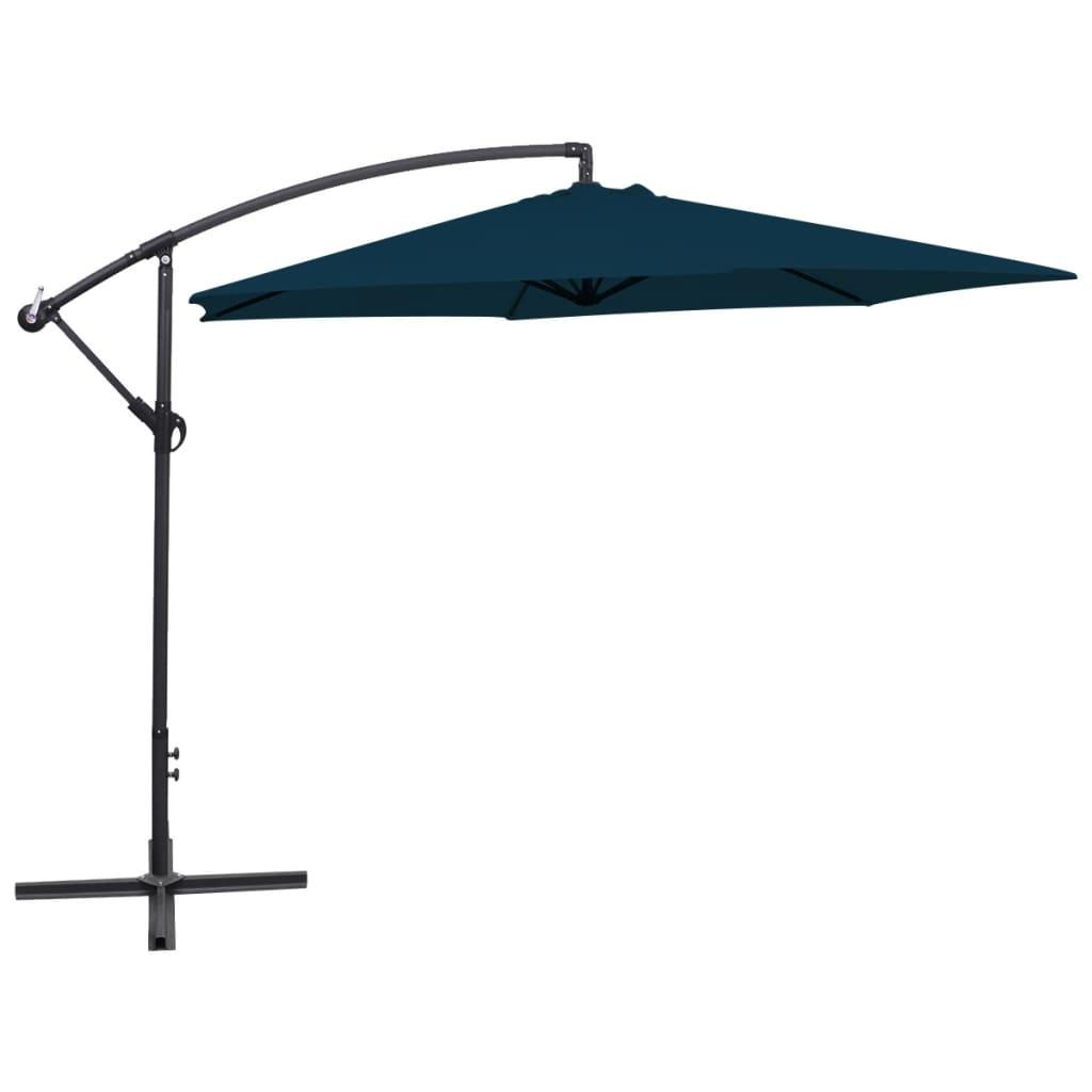 vidaXL 3 m kék konzolos esernyő