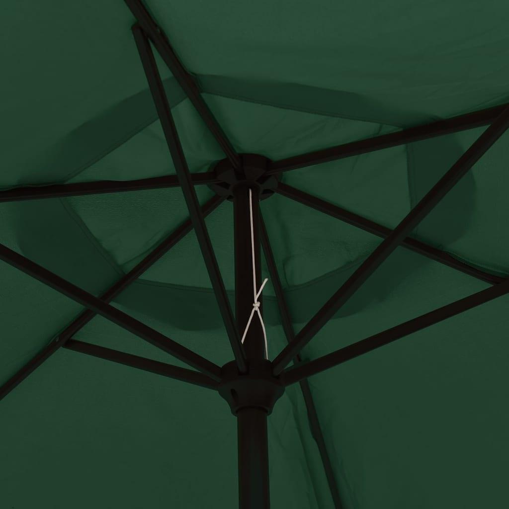 acheter vidaxl parasol en porte faux 3 m vert pas cher. Black Bedroom Furniture Sets. Home Design Ideas