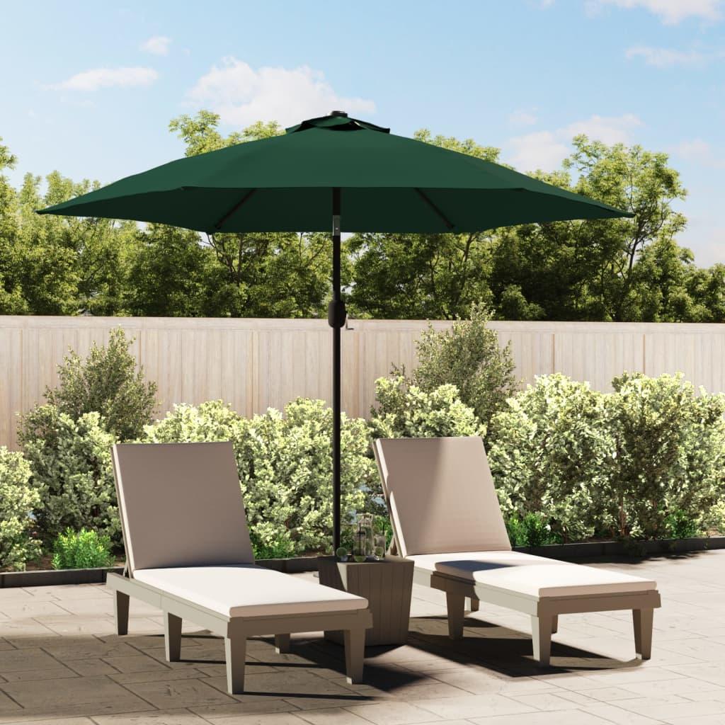 vidaXL 3 m zöld LED konzol napernyő