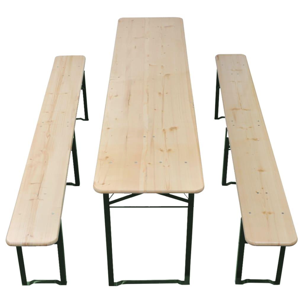 Acheter vidaxl ensemble de table et banc de brasserie for Meuble chinois solde