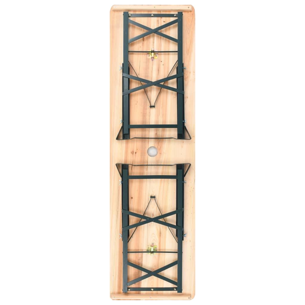 Vidaxl tavolo da birreria pieghevole esterno 179x50x75 105 cm in legno di pino ebay - Tavolo pieghevole da esterno ...
