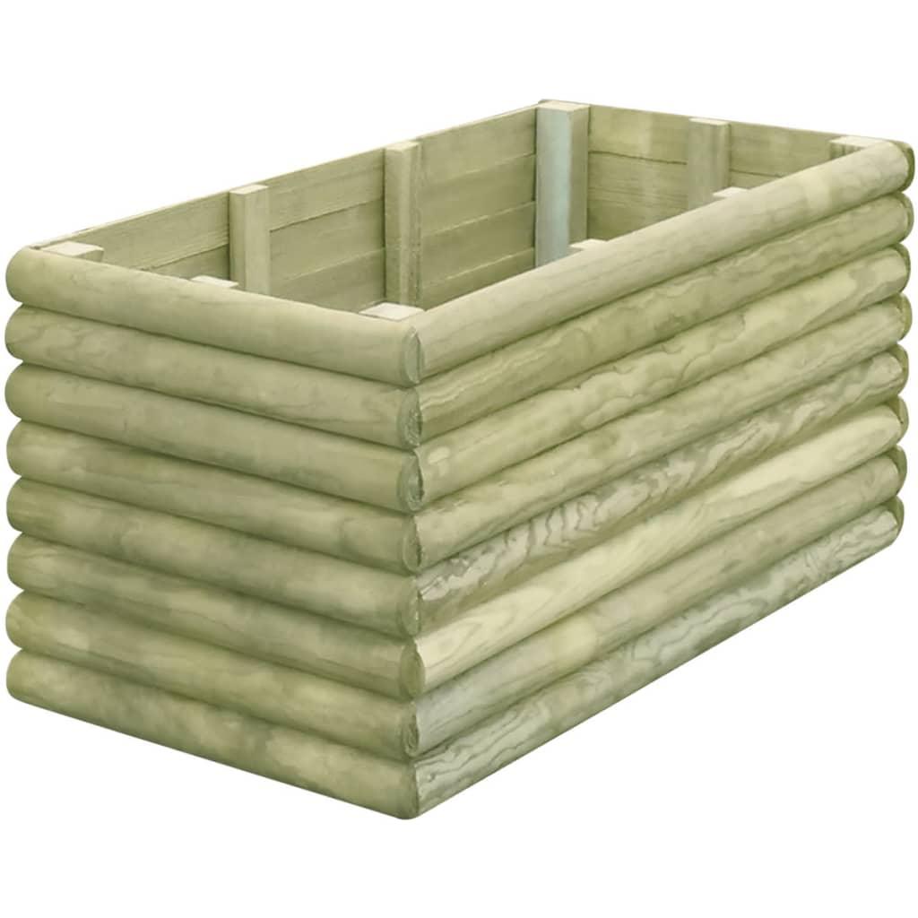 jardini re bois de pin impr gn bac fleurs pot de fleurs cache pot de jardin ebay. Black Bedroom Furniture Sets. Home Design Ideas