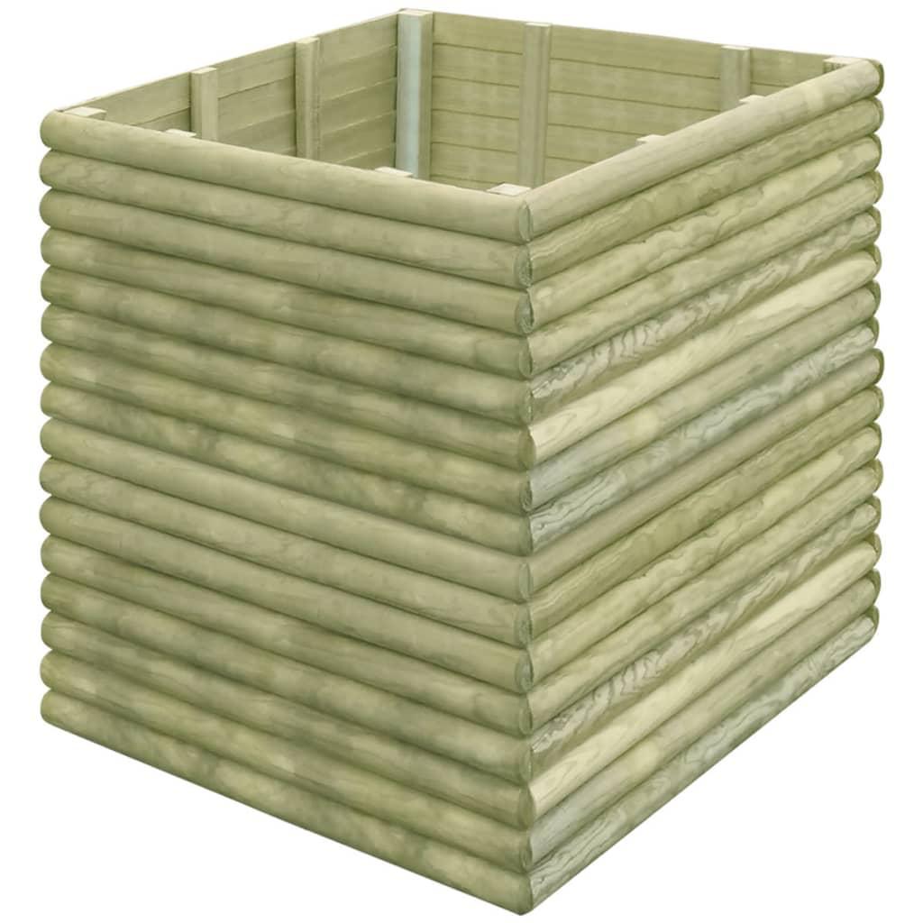 Vidaxl jardinera 106x106x96 cm de madera de pino - Amazon jardineras ...