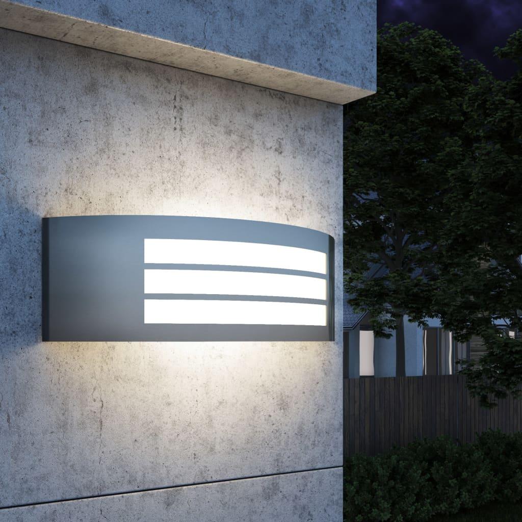 vidaXL kültéri fali rozsdamentes acél lámpák