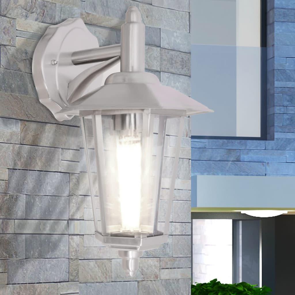 vidaXL kültéri rozsdamentes acél fali lámpa