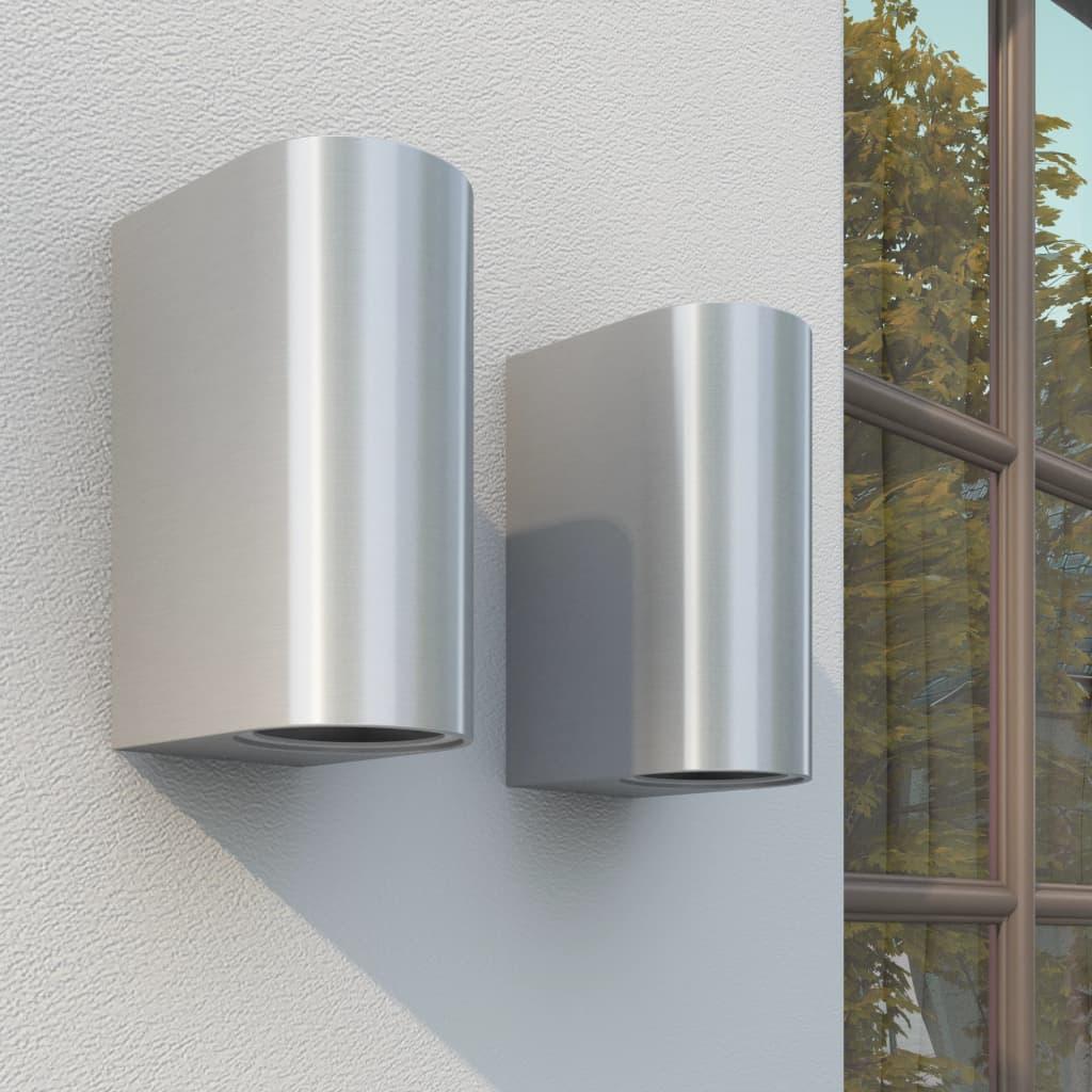 vidaXL 2 db fel és le vetítődő fényű kültéri fali lámpa