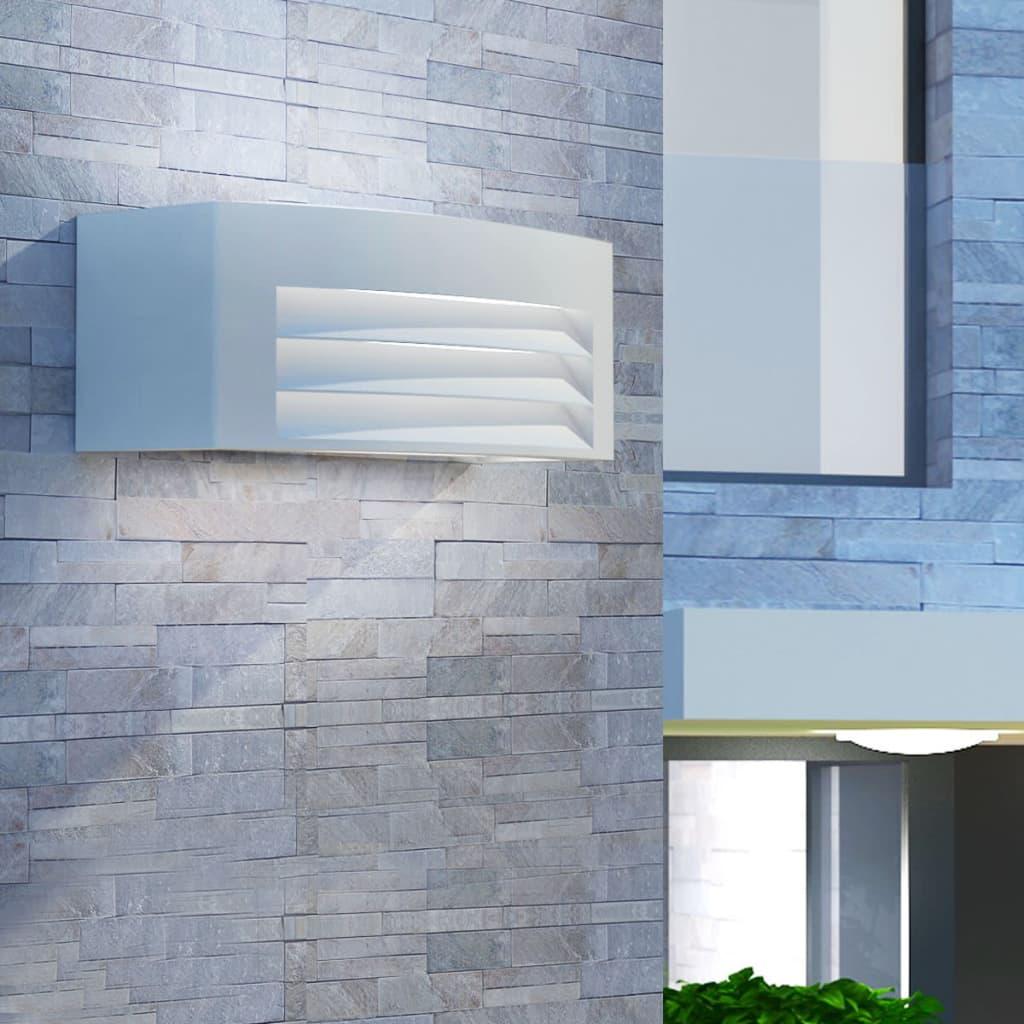 vidaXL-Lampada-da-Esterno-Luce-Applique-per-Parete-Giardino-in-Alluminio