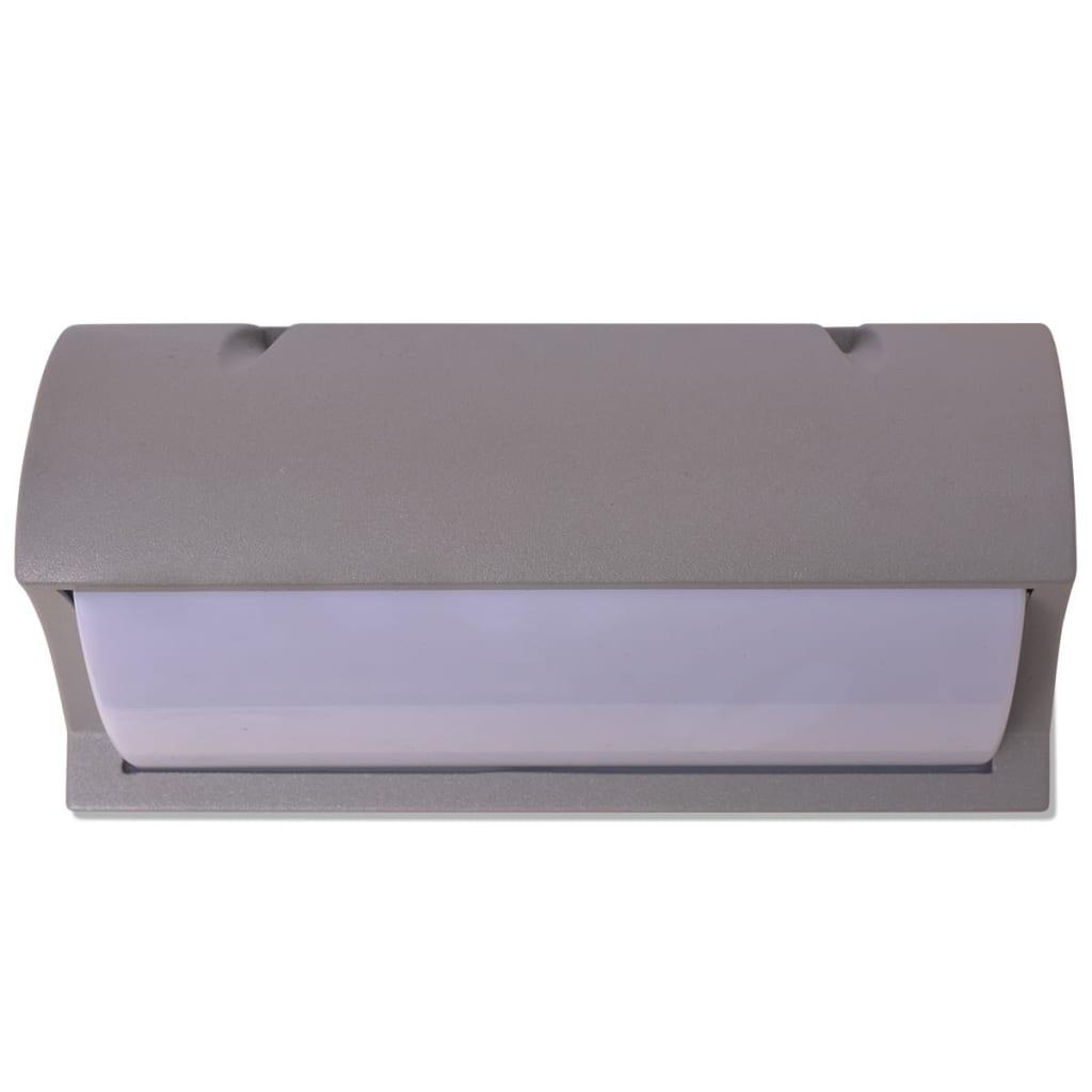 vidaXL.co.uk vidaXL Outdoor Wall Light Grey Aluminium
