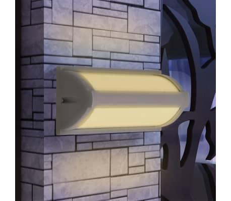 Acheter vidaxl applique murale ext rieure aluminium gris for Applique murale exterieure pas cher